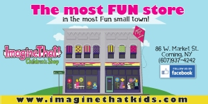 Stop by Imagine That! on Market Street to check out their great selections of toys, games, gifts, and infant clothing.  They were a proud supporter of Hawk Talk 2015!
